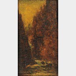Ralph Blakelock (American, 1847-1919)      Arizona Canyon