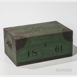 "Paint-decorated ""Capt. Samuel Hayes 1861"" Box"