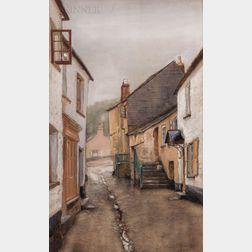 Arthur Quartley (American, 1839-1886)      Street in Cornwall