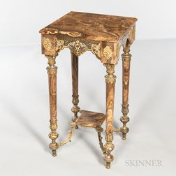 Champleve Enamel and Onyx Side Table