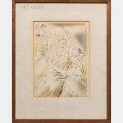 Jules Pascin (French, 1885-1930)      Cendrillon