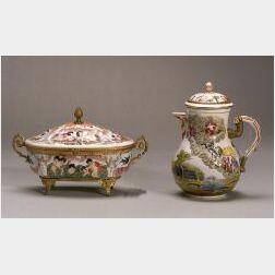 Four Capo di Monte Style Porcelain Items