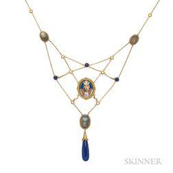 Egyptian Revival Bib Necklace