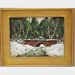John F. Enser (American, 1898-1968)      Winter Brook, New Hampshire.