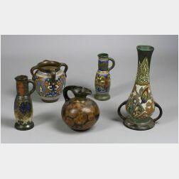 Five Pieces of Gouda Pottery Pieces