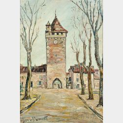 Pierre Jean Baptiste Louis Dumont (French, 1884-1936)      Tower at Rouen