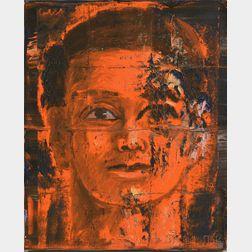 Aaron Fink (American, b. 1955)      Portrait of a Man in Orange
