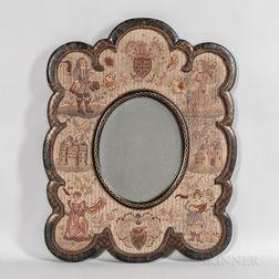 Needlework-framed Mirror