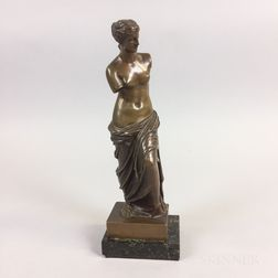French School Bronze Venus de Milo Statue