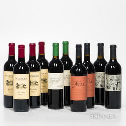 Mixed California Wines, 10 bottles