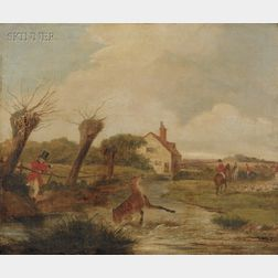 Manner of Francis Calcraft Turner (British, c. 1782-1846)      Lot of Two Scenes of Stag Hunting.
