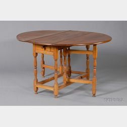 William and Mary Maple Drop-leaf Gate-leg Table