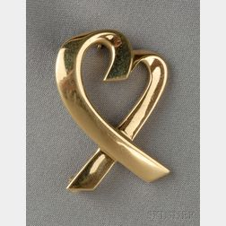 "18kt Gold ""Loving Heart"" Brooch, Paloma Picasso, Tiffany & Co."