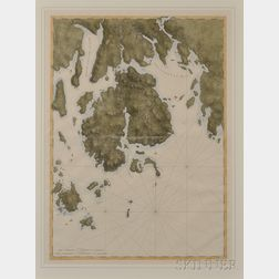 Nantucket and Mount Desert Island, Two Facsimile Maps. Joseph Frederick Wallet Des Barres (1721-1824)