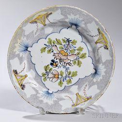 Polychrome Decorated Tin-glazed Earthenware Plate