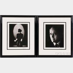 Roddy McDowall (English, 1928-1998)      Two Portraits: Judy Garland, New York City