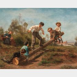 Charles Édouard Frère (French, 1837-1894)      The See-Saw