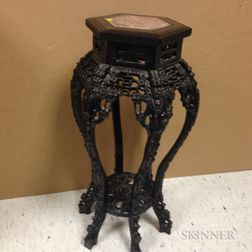 Carved Marble-top Stand