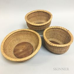 Three Nantucket-style Baskets