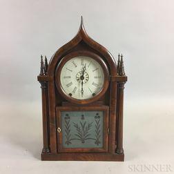 Brewster & Ingraham Ogee Gothic Rosewood Shelf Clock Case