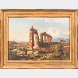 European School, Late 19th Century      Ruins of an Aqueduct