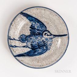 Dedham Pottery Woodcock in Flight Plate