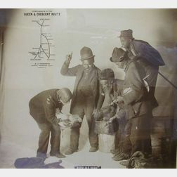 "Framed Queen & Crescent Route/W.C. Rinearson, Cincinnati, Ohio Advertising   Photographic Print, ""BEFO DE WAH,"""