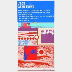 Richard Marshall Merkin (American, b. 1938) Lot of Six Prints: Jack Armstrong, Prince...