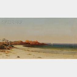 William Van De Velde Bonfield (American, 1834-1885)      Sandy Beach, Cohasset, Massachusetts