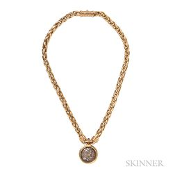 """18kt Gold and Ancient Coin """"Monete"""" Necklace, Bulgari"""