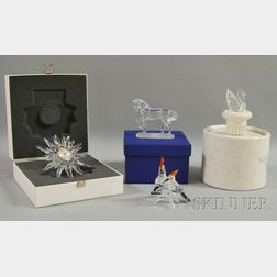 Four Swarovski Crystal Figural Items