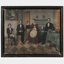 George Frederic Stearns (Mansfield, Massachusetts, 1826-1902)      Portrait of the Isaac Stearns Family
