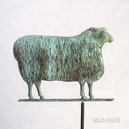 Molded Sheet Copper Sheep Weathervane