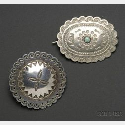 Two Southwest Silver Items