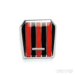 Sterling Silver and Enamel Travel Watch, Retailed by Cartier