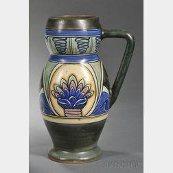 Gouda Matte Glaze Pottery Pitcher