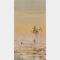 Attributed to Efim Efimovich Volkov (Russian, 1844-1920)      Russian Landscape