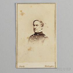 Carte-de-visite of Admiral David Farragut