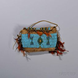 Central Plains Miniature Beaded Hide Possible Bag
