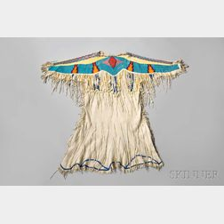 Nez Perce Beaded Hide Woman's Dress