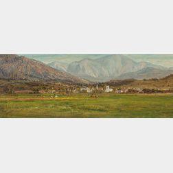 Attributed to John Joseph Enneking (American, 1841-1916)      In the Swiss Alps