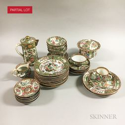 Approximately Forty-five Pieces of Rose Medallion Porcelain Tableware.     Estimate $250-350