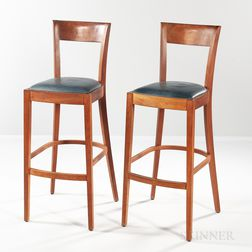 Pair of Thomas Moser Cherry Harpswell Stools