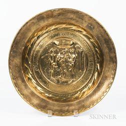 Nuremburg Brass Adam & Eve Alms Dish