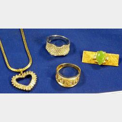 Group of Gold and Diamond Jewelry