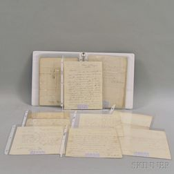 Small Collection of 19th Century Historical Letters and Documents