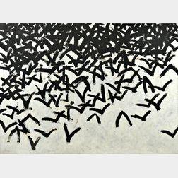 Leon Tarasewicz (Polish, b. 1957)      Untitled   [Clustered Birds]