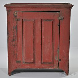 Red-painted Jelly Cupboard