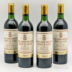 Chateau Pichon Longueville Lalande 1982, 4 bottles