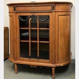 Biedermeier-style Glazed Pine and Beech Cabinet
